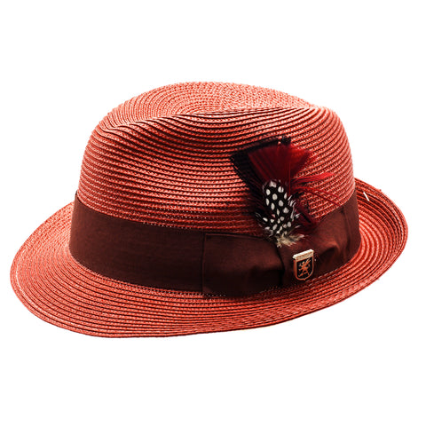 STACY ADAMS SPRING HAT / RED