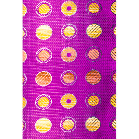 STACY ADAMS PURPLE DOTS TIE SET