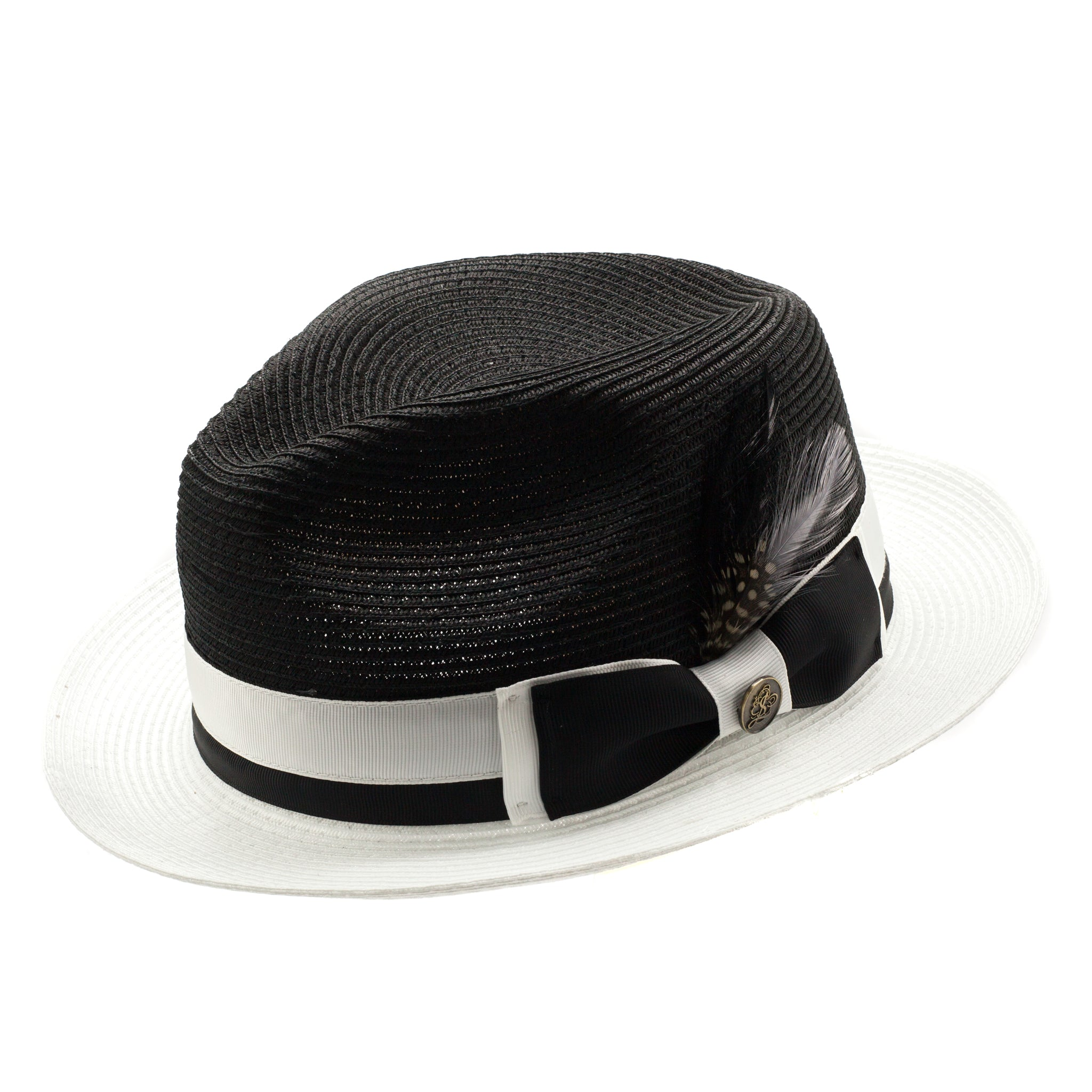 STEVEN LAND SPRING HAT WHITE/BLACK