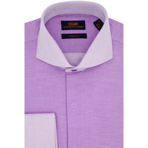 STEVEN LAND 2-TONE DRESS SHIRT / LAV