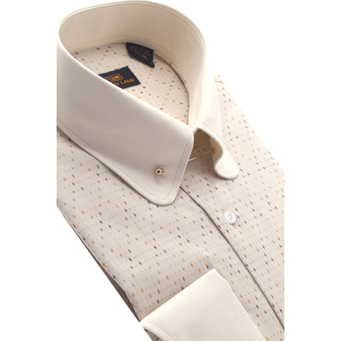 STEVEN LAND TAN DRESS SHIRT