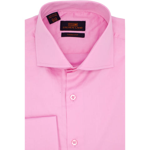 STEVEN LAND SOLID PINK SHIRT