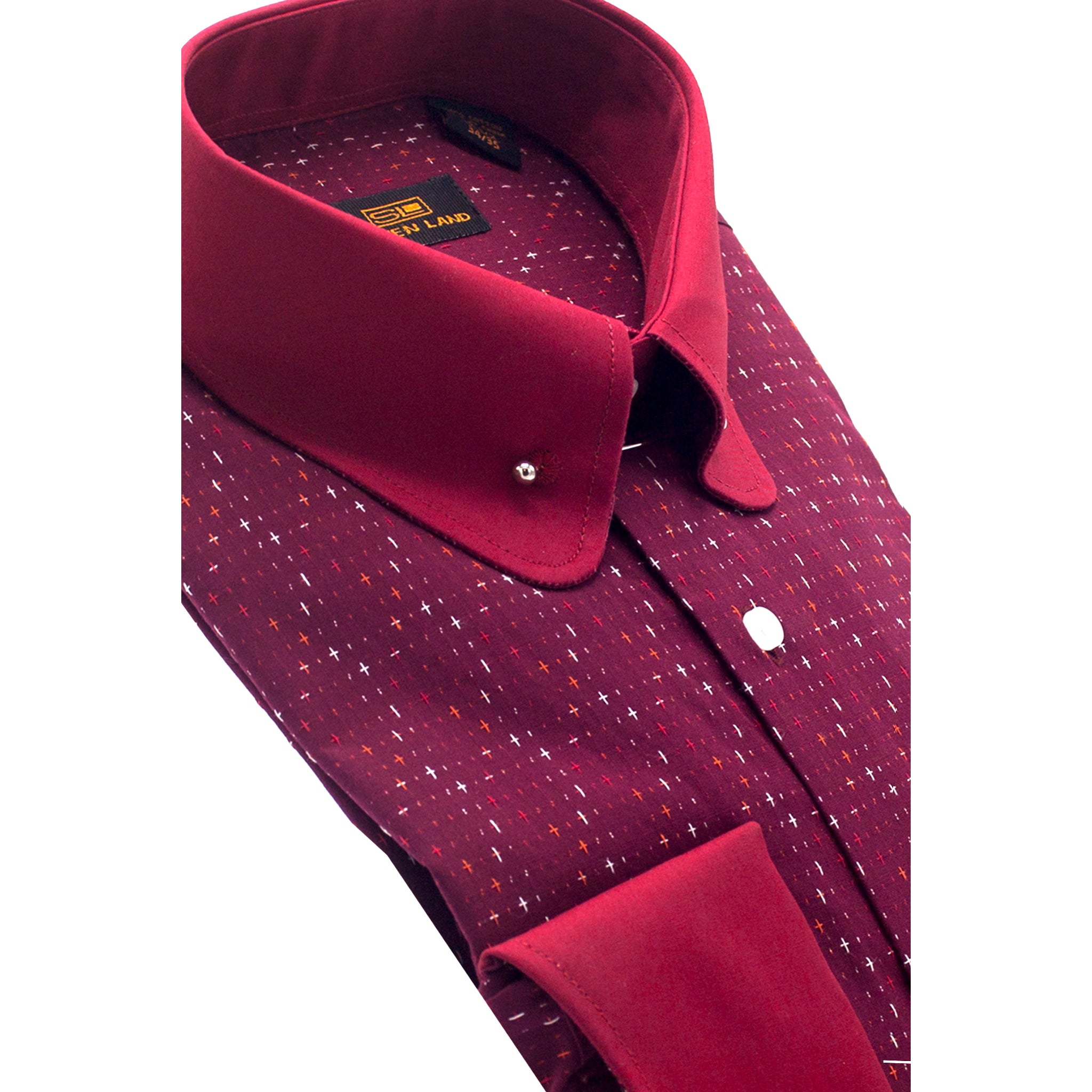 STEVEN LAND 2-TONE DRESS SHIRT / RED