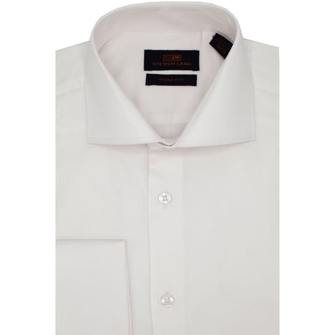 STEVEN LAND WHITE SOLID SHIRT