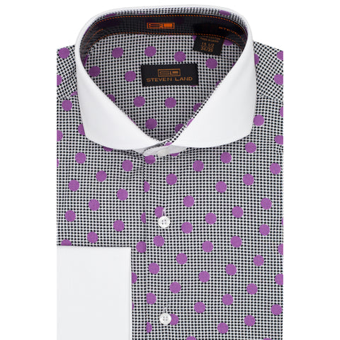 STEVEN LAND PURPLE DRESS SHIRT