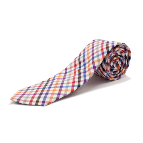 STACY ADAMS PLAID TIE SET- MULTI