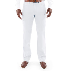 MONACO WHITE CASUAL MODERN FIT FLAT FRONT BY TIGLIO