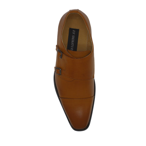 UV SIGNATURE MONK STRAP BROWN