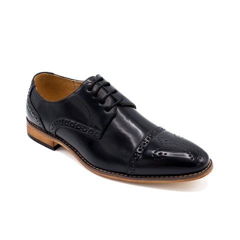 UV SIGNATURE BLACK CAP TOE OXFORD