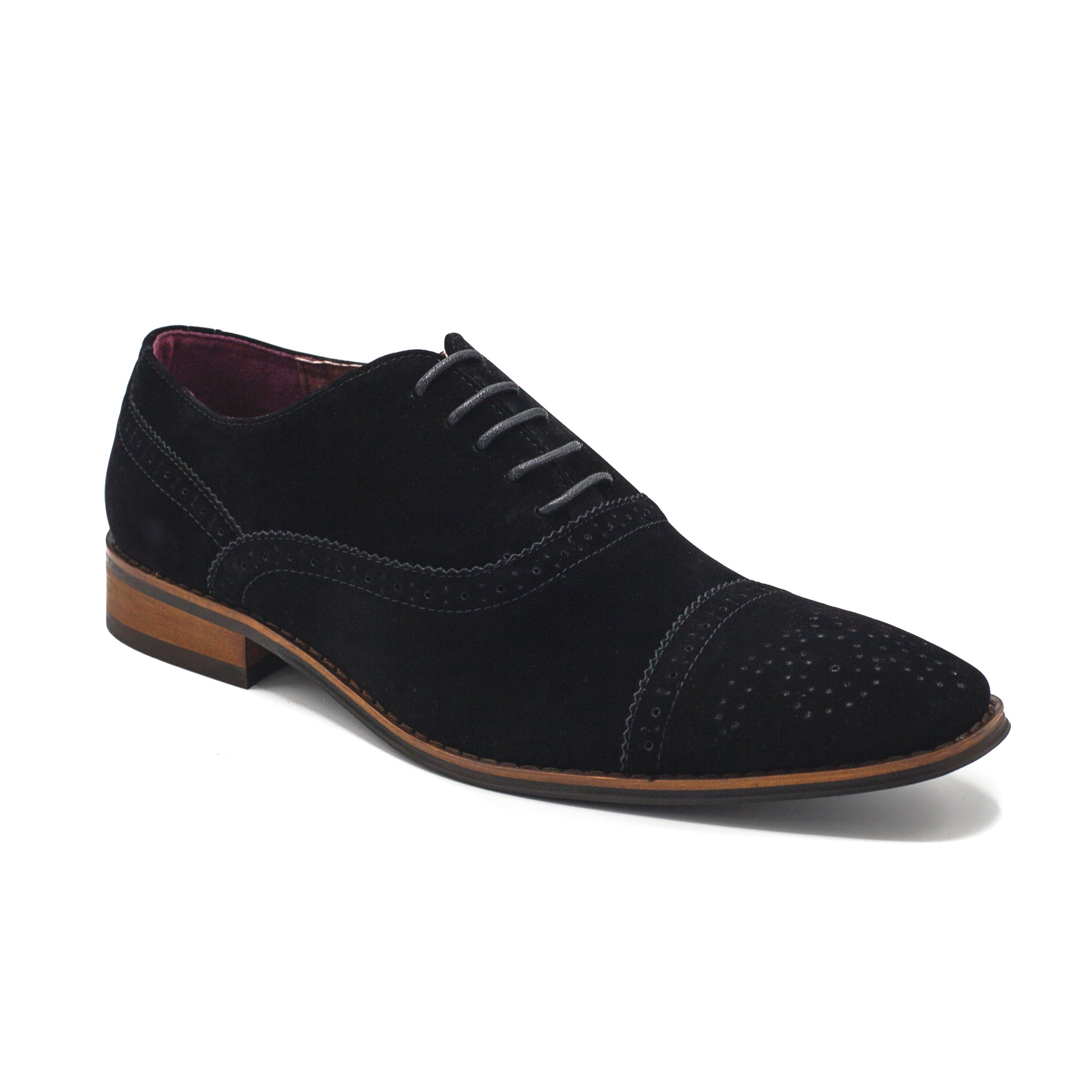 UV SIGNATURE LACE UP CAP TOE BLACK