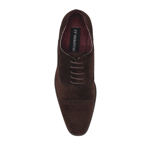 UV SIGNATURE LACE UP CAP TOE D. BROWN