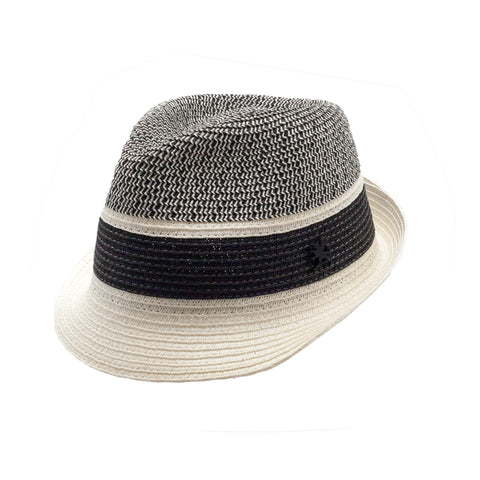 STACY ADAMS SPRING HAT BLACK/WHITE