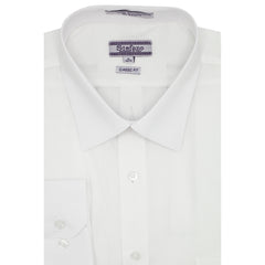 STEFANO SOLID DRESS SHIRT WHITE