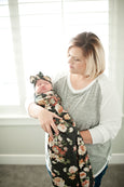 Carly Knit Swaddle Blanket