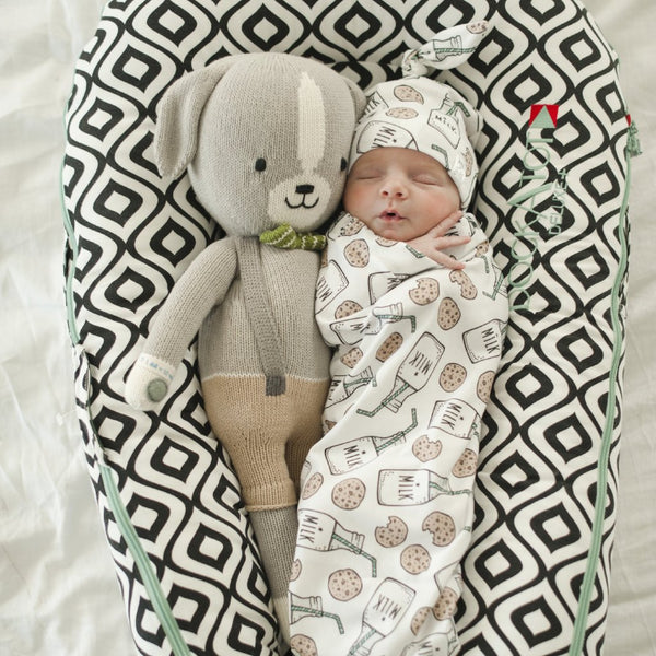 Milk & Cookies Baby Swaddle Cocoon Set