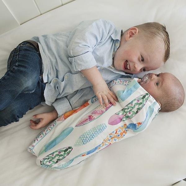 Surf's Up! Baby Swaddle Cocoon Set