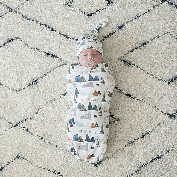 Adventure Awaits Baby Swaddle Cocoon Set