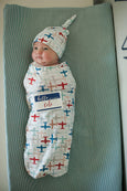 Aviation Baby Swaddle Cocoon Set
