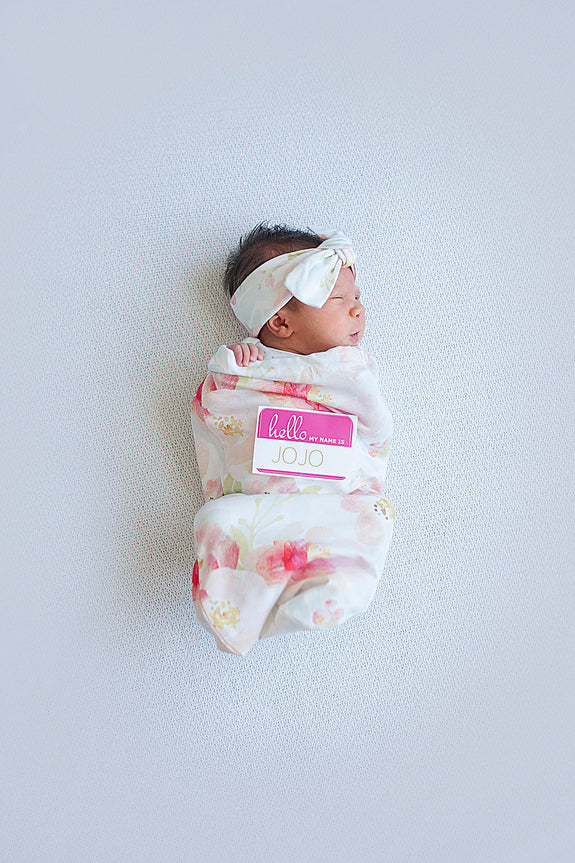 Plush Pink Baby Swaddle Cocoon Set