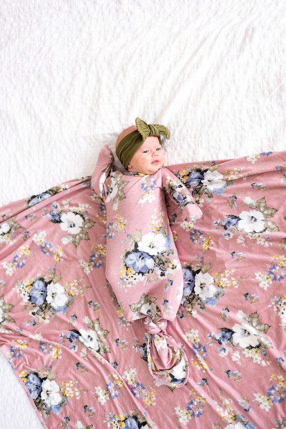 Sadie Knit Blanket + Headband Set