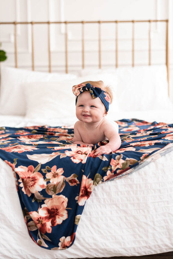 Henley Knit Blanket + Headband Set
