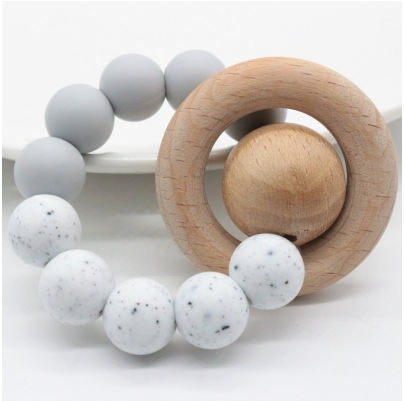 White Speckled Teether Ring