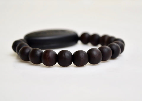 Dark Mahogany Peach wood Mala beads - Be Mindful Now
