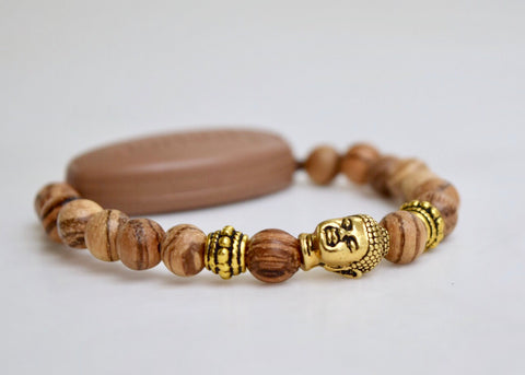Rare Tiger Skin Sandalwood - Authentic Tibetan Mala Prayer Beads