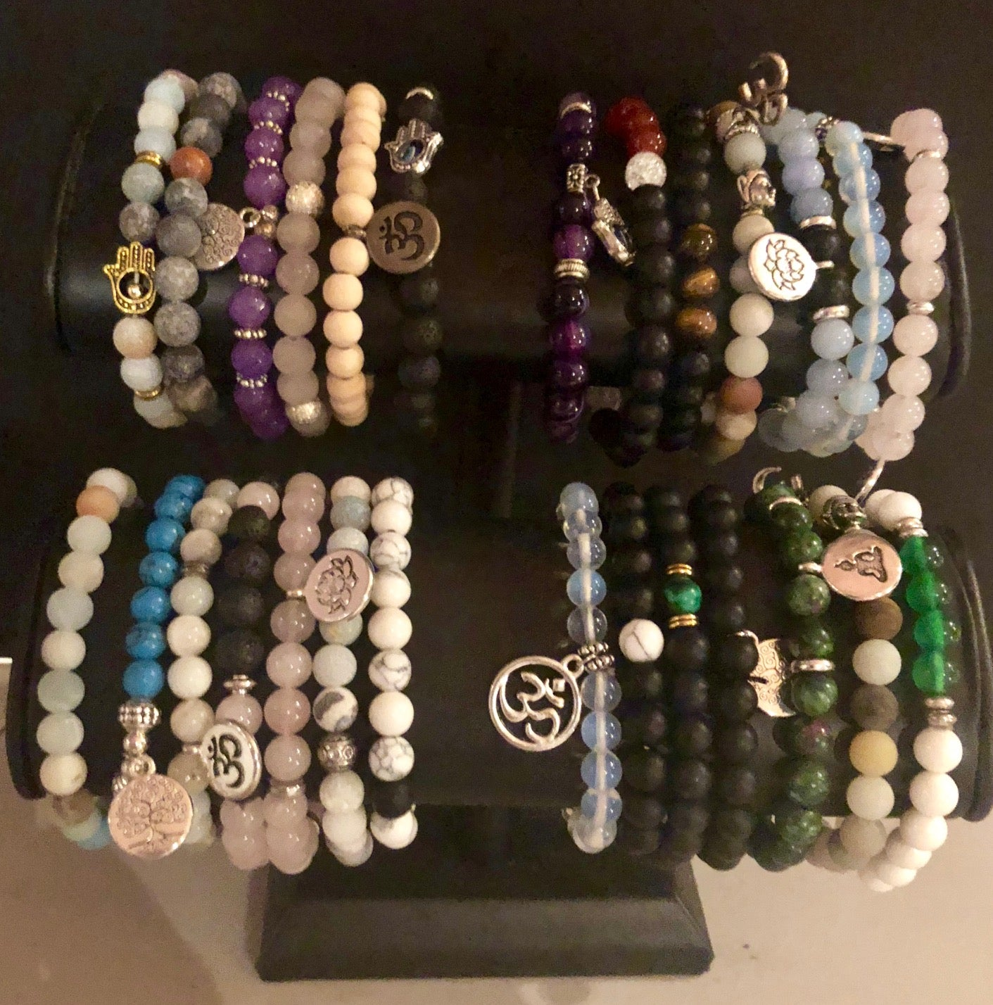 "Stackable Beaded ""Intention"" Bracelets"