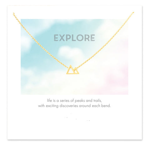 "Gold Mountains Necklace ""Explore"""