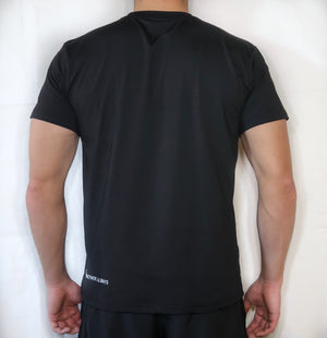 Soft-Stretch Word Tee - Black