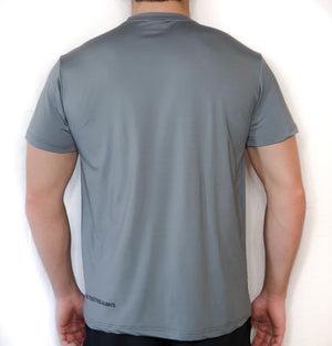 Soft-Stretch Word Tee - Grey