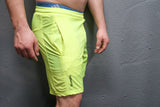 Mens Training Shorts - Neon Yellow