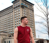 Mens Muscle Tank - Burgundy