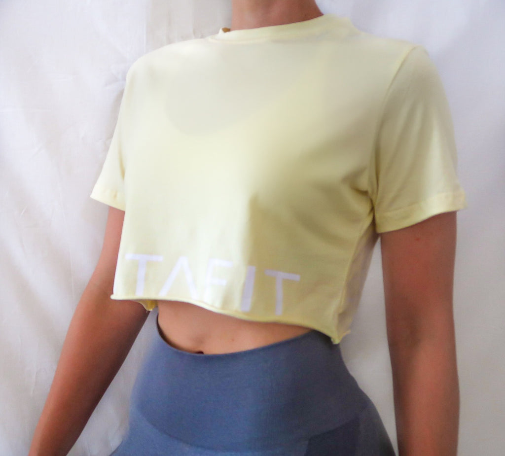 Crop Tee - Yellow