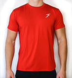 Soft-Stretch Logo Tee - Red