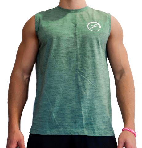 Mens Muscle Tank - Sea Green