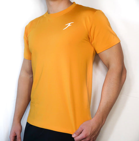 Soft-Stretch Logo Tee - Mango