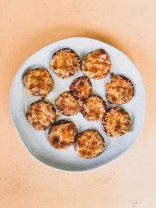 Easy Low Carb Snack- Zucchini Pizza Bites