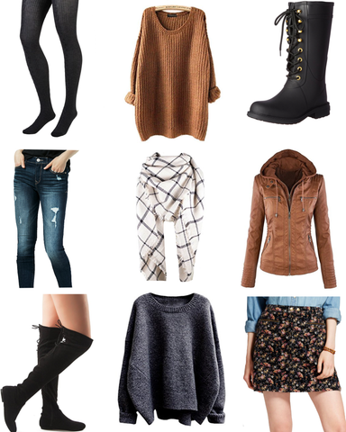 fall fashion, cold weather winter essentials, trendy women's clothes