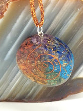 Circle Chakra Spiral Orgonite Necklace