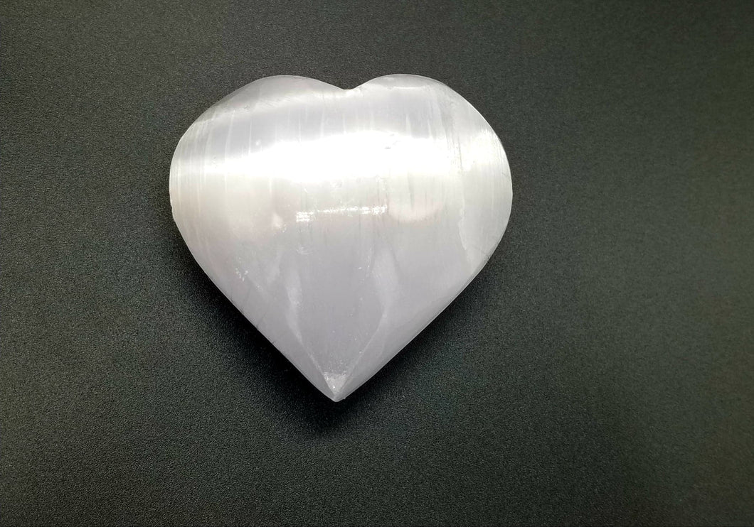 Selenite/Satin Spar Heart