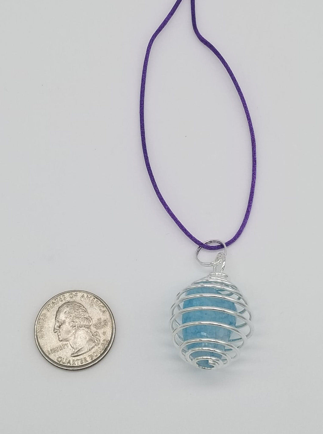 Blue Dyed Crackle Quartz Cage Necklace for Psychic Abilities