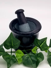 Black Soapstone Mortar & Pestle Set