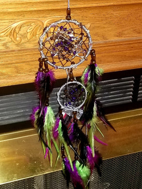 Dark Fairy Queen with Super 7 Stones Light-Up Dream Catcher