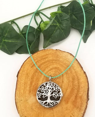 Tree of Life Lava Aromatherapy Necklace