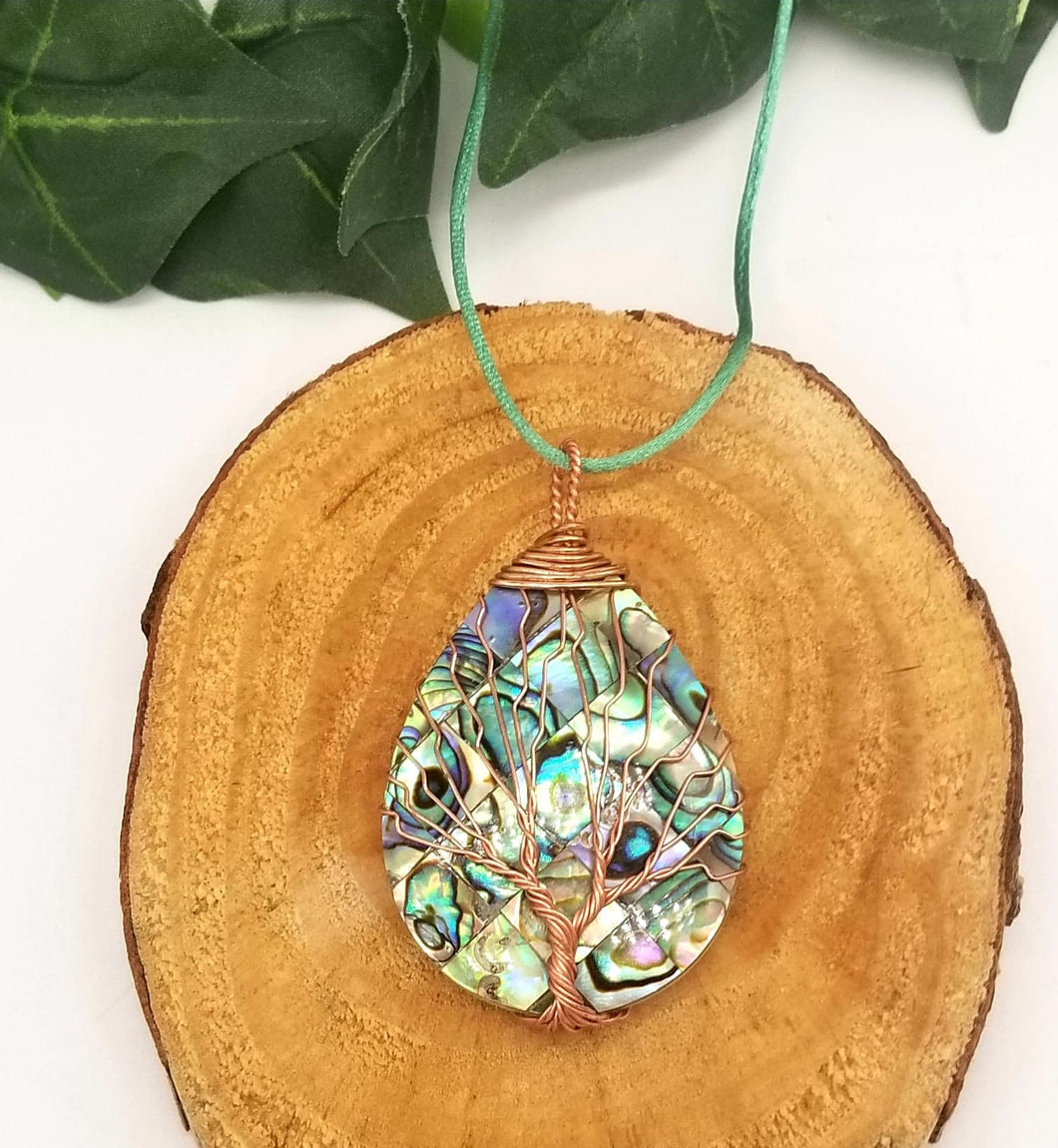 Abalone Tree Necklace