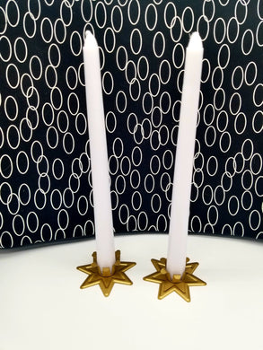White Taper Candles (Unscented)