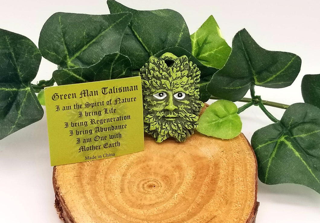 Mini Green Man Talisman