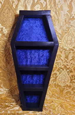 Wooden Coffin Shelf